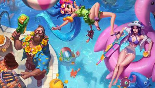 LOL测试服:泳池派对皮肤修改,射手装备继续调整