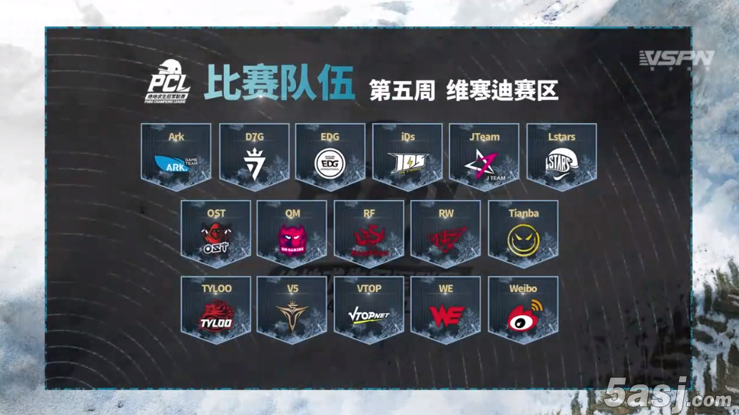 PCL第五周维寒迪赛区:Weibo战队占榜首