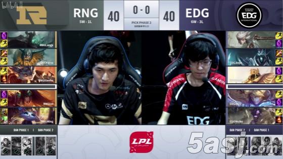 Uzi希维尔完美输出接管团战 RNG 2:0战胜EDG