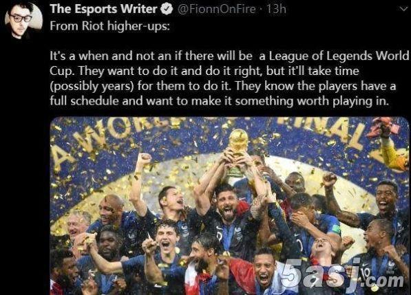 拳头高层已经确定举办LOL世界杯 但这可能需要好几年